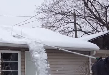 roof snow removal tool                         roof rake canada