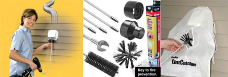 Dryer vent cleaning supplies tools